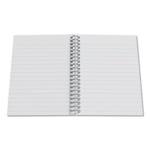 Mini One-Subject Notebook, Medium/College Rule, Blue Cover, 5.5 x 3.3, 200 Sheets. Picture 2