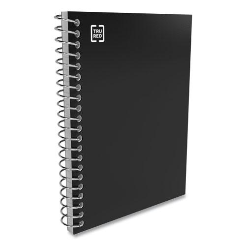 Mini One-Subject Notebook, Medium/College Rule, Black Cover, 5.5 x 3.3, 200 Sheets. Picture 3