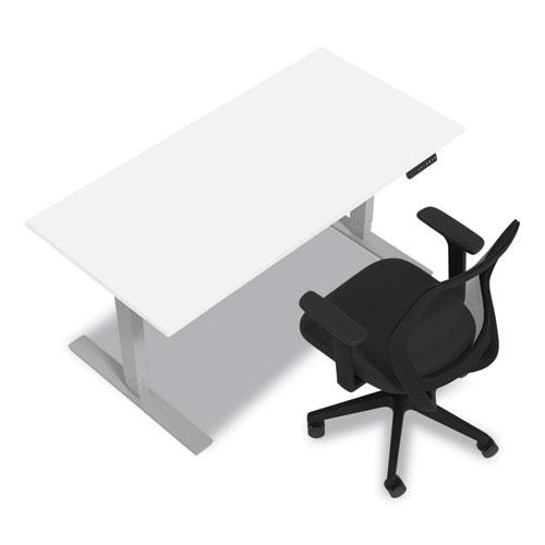 """Essentials Electric Sit-Stand Desk, 55.1"""" x 27.5"""" x 25.9"""" to 51.5"""", White/Aluminum. Picture 5"""