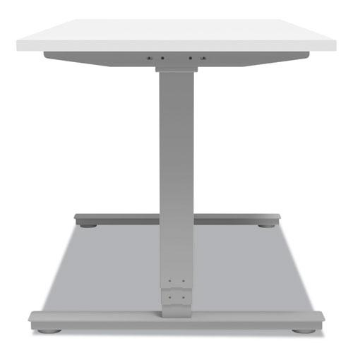 """Essentials Electric Sit-Stand Desk, 55.1"""" x 27.5"""" x 25.9"""" to 51.5"""", White/Aluminum. Picture 6"""