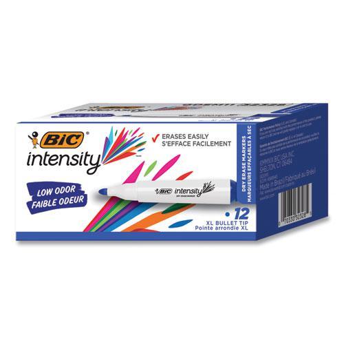 Intensity Low Odor Dry Erase Marker, Broad Chisel Tip, Blue, Dozen. Picture 1