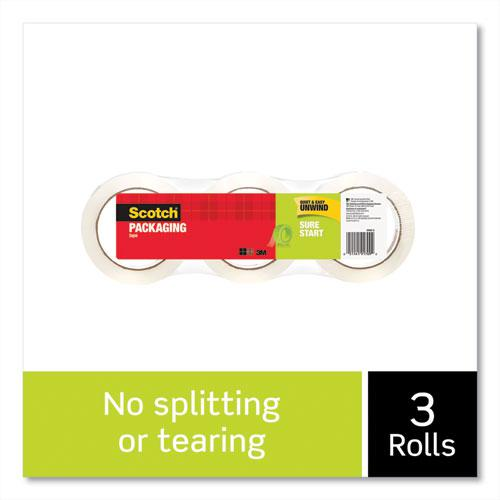 """Sure Start Packaging Tape, 3"""" Core, 1.88"""" x 54.6 yds, Clear, 3/Pack. Picture 5"""