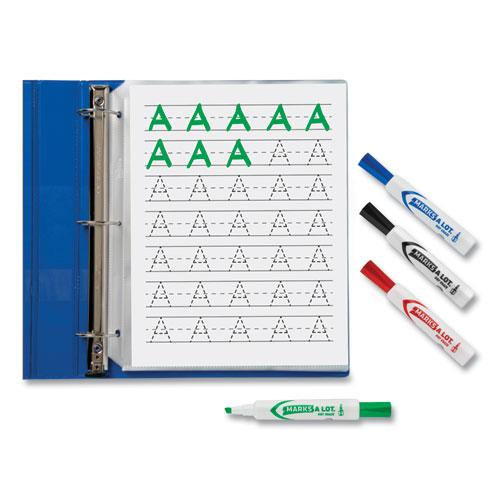 MARKS A LOT Desk-Style Dry Erase Marker, Broad Chisel Tip, Assorted Colors, 4/Set. Picture 5