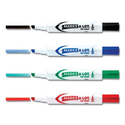 MARKS A LOT Desk-Style Dry Erase Marker Value Pack, Broad Chisel Tip, Assorted Colors, 24/Pack. Picture 5