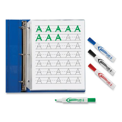 MARKS A LOT Desk-Style Dry Erase Marker, Broad Chisel Tip, Assorted Colors, 8/Set. Picture 5
