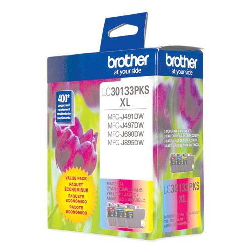 LC30133PKS High-Yield Ink, 400 Page-Yield, Cyan/Magenta/Yellow. Picture 1