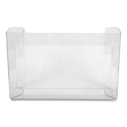 Clear Plexiglas Disposable Glove Dispenser, Three-Box, 18w x 3 3/4d x 10h. Picture 1