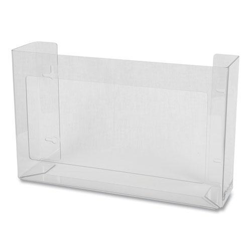 Clear Plexiglas Disposable Glove Dispenser, Three-Box, 18w x 3 3/4d x 10h. Picture 3