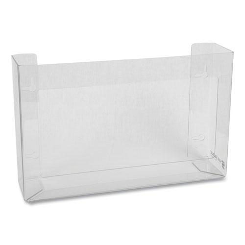 Clear Plexiglas Disposable Glove Dispenser, Three-Box, 18w x 3 3/4d x 10h. Picture 2