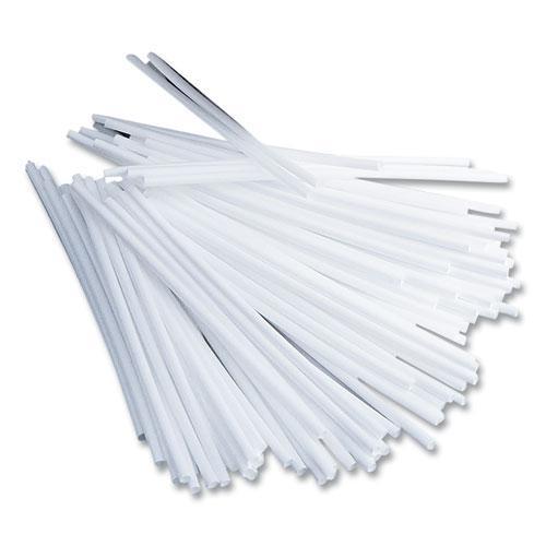 "Plastic Stir Sticks, 5"", Plastic, White, 1000/Box. Picture 1"