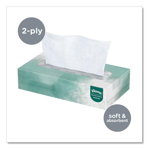 Naturals Facial Tissue, 2-Ply, White, 125 Sheets/Box. Picture 5