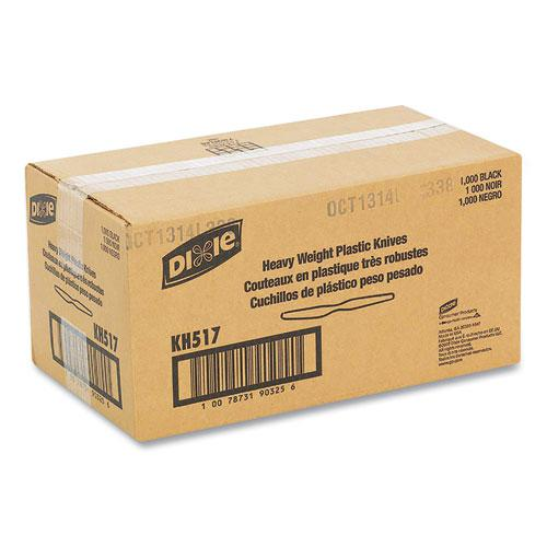 Plastic Cutlery, Heavyweight Knives, Black, 1,000/Carton. Picture 3