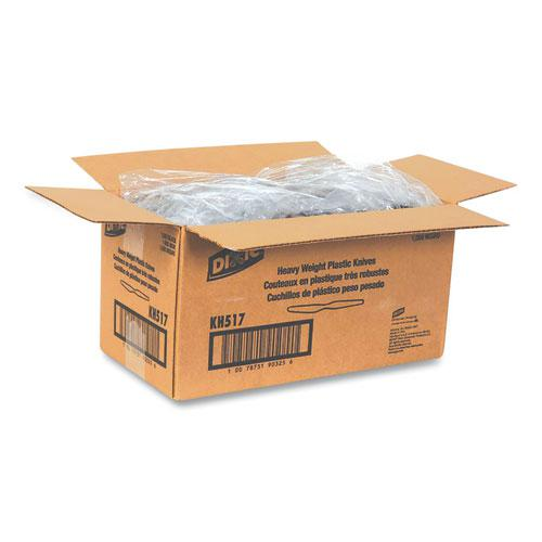 Plastic Cutlery, Heavyweight Knives, Black, 1,000/Carton. Picture 5