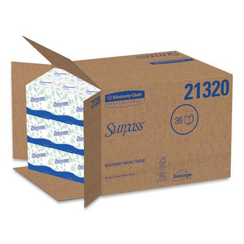 Facial Tissue, 2-Ply, White, Pop-Up Box, 110/Box, 36 Boxes/Carton. Picture 3