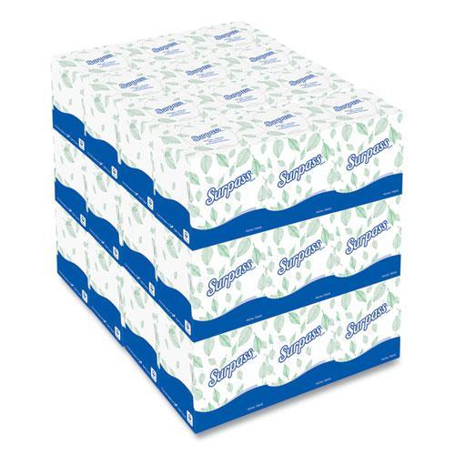 Facial Tissue, 2-Ply, White, Pop-Up Box, 110/Box, 36 Boxes/Carton. Picture 4