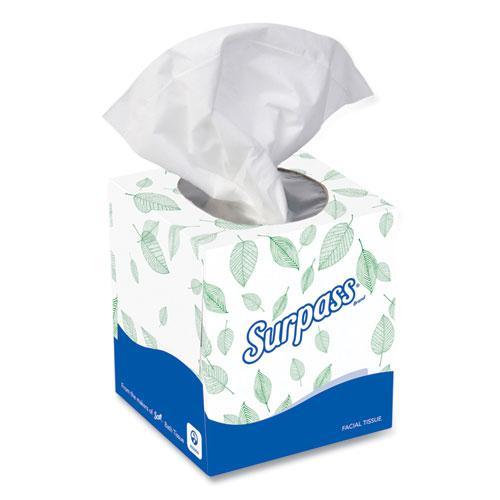 Facial Tissue, 2-Ply, White, Pop-Up Box, 110/Box, 36 Boxes/Carton. Picture 1