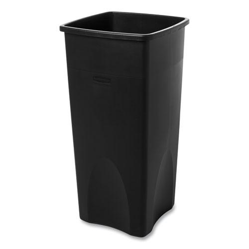 Untouchable Square Waste Receptacle, Plastic, 23 gal, Black. Picture 3