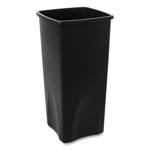 Untouchable Square Waste Receptacle, Plastic, 23 gal, Black. Picture 4
