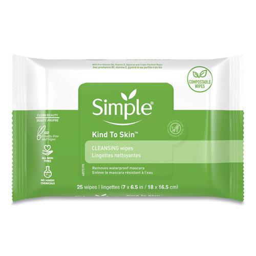Eye And Skin Care, Facial Wipes, 25/Pack, 6 Packs/Carton. Picture 1