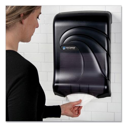 Ultrafold Multifold/C-Fold Towel Dispenser, Oceans, 11.75 x 6.25 x 18, Transparent Black Pearl. Picture 3