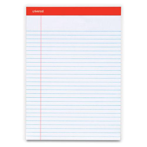 Perforated Ruled Writing Pads, Wide/Legal Rule, Red Headband, 50 White 8.5 x 11.75 Sheets, Dozen. Picture 1