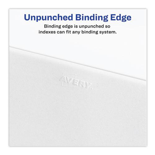Preprinted Legal Exhibit Side Tab Index Dividers, Avery Style, 10-Tab, 66, 11 x 8.5, White, 25/Pack, (1066). Picture 3
