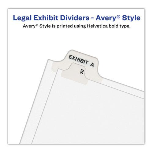 Preprinted Legal Exhibit Side Tab Index Dividers, Avery Style, 10-Tab, 66, 11 x 8.5, White, 25/Pack, (1066). Picture 5