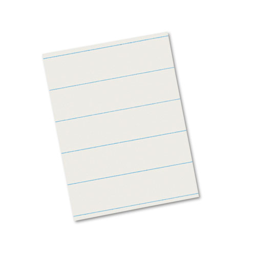 """Ruled Newsprint Paper, 3/8"""" Short Rule, 8.5 x 11, 500/Pack. Picture 1"""