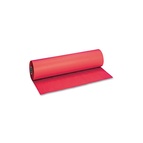 "Decorol Flame Retardant Art Rolls, 40lb, 36"" x 1000ft, Cherry Red. Picture 1"