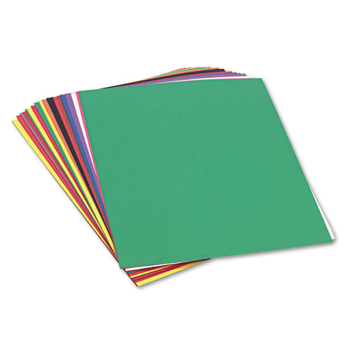 Construction Paper, 58lb, 18 x 24, Assorted, 50/Pack. Picture 1