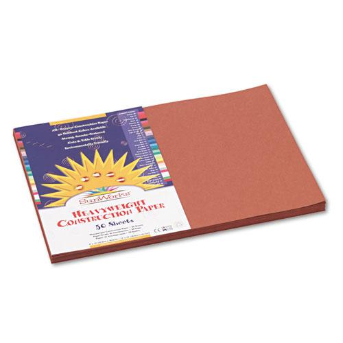 Construction Paper, 58lb, 12 x 18, Brown, 50/Pack. Picture 1