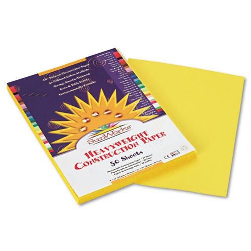 Construction Paper, 58lb, 9 x 12, Yellow, 50/Pack. Picture 1