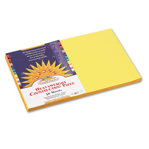 Construction Paper, 58lb, 12 x 18, Yellow, 50/Pack. Picture 1