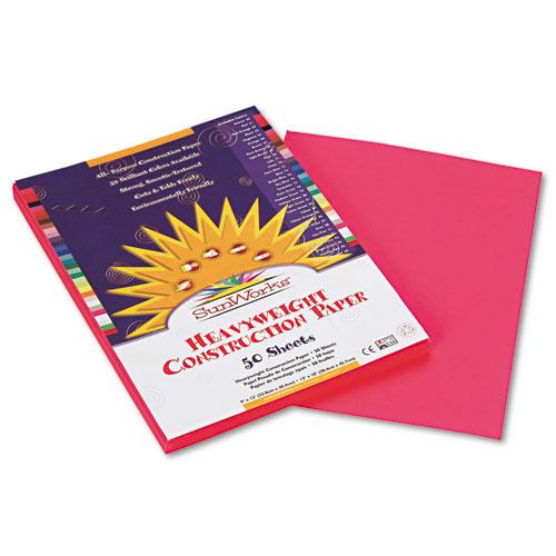 Construction Paper, 58lb, 9 x 12, Hot Pink, 50/Pack. Picture 1