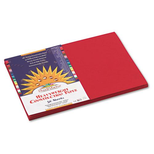 Construction Paper, 58lb, 12 x 18, Holiday Red, 50/Pack. Picture 1