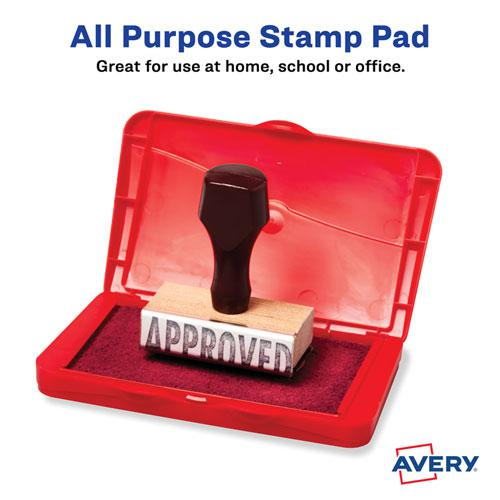Pre-Inked Foam Stamp Pad, 4.25 x 2.75, Red. Picture 3