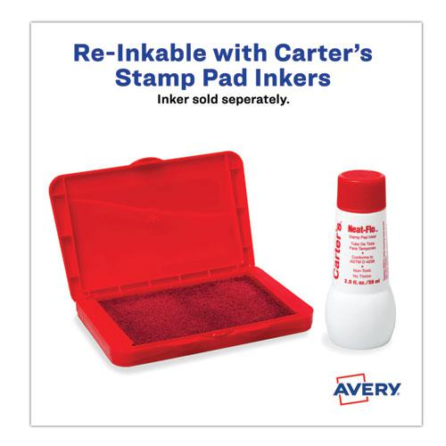 Pre-Inked Foam Stamp Pad, 4.25 x 2.75, Red. Picture 5