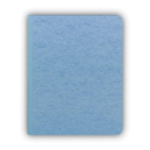 """Prong Fastener Premium Pressboard Report Cover, Two-Piece Prong Fastener, 3"""" Capacity, 8.5 x 11, Blue/Blue. Picture 4"""