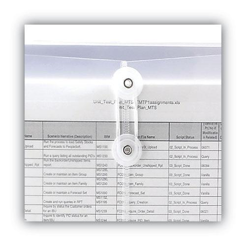 Poly String and Button Interoffice Envelopes, String and Button Closure, 9.75 x 11.63, Clear, 5/Pack. Picture 4