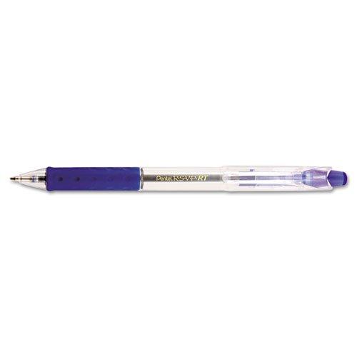 R.S.V.P. RT Ballpoint Pen, Retractable, Medium 1 mm, Blue Ink, Clear Barrel, Dozen. Picture 2
