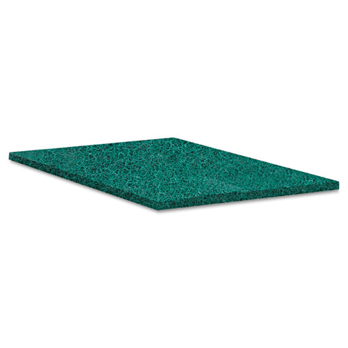 Heavy-Duty Scour Pad, Green, 6 x 9, 15/Carton. Picture 4