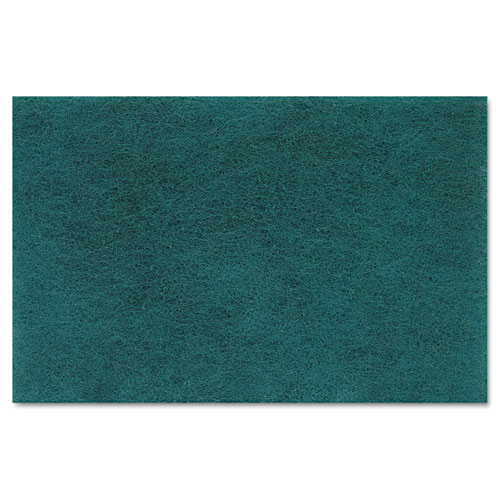 Medium Duty Scour Pad, Green, 6 x 9, 20/Carton. Picture 4