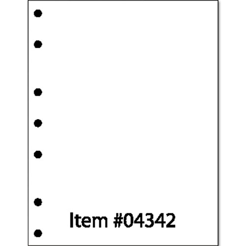 Perforated and Punched Paper, 7-Hole Punched, 20 lb, 8.5 x 11, White, 500/Ream. Picture 2