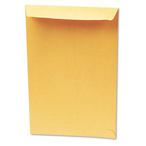 Redi-Seal Catalog Envelope, #13 1/2, Cheese Blade Flap, Redi-Seal Closure, 10 x 13, Brown Kraft, 100/Box. Picture 2