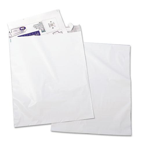 Redi-Strip Poly Mailer, #6, Square Flap, Redi-Strip Closure, 14 x 19, White, 100/Pack. Picture 1