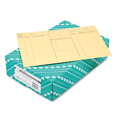 Attorney's Envelope/Transport Case File, Cheese Blade Flap, Fold Flap Closure, 10 x 14.75, Cameo Buff, 100/Box. Picture 2