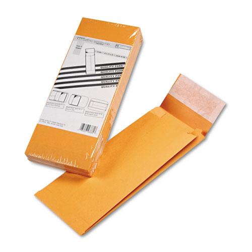 Redi-Strip Kraft Expansion Envelope, #14, Square Flap, Redi-Strip Closure, 5 x 11, Brown Kraft, 25/Pack. Picture 1