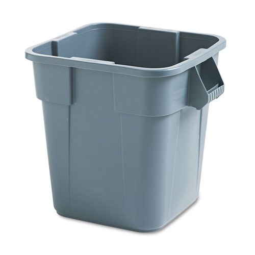 Brute Container, Square, Polyethylene, 28 gal, Gray. Picture 2