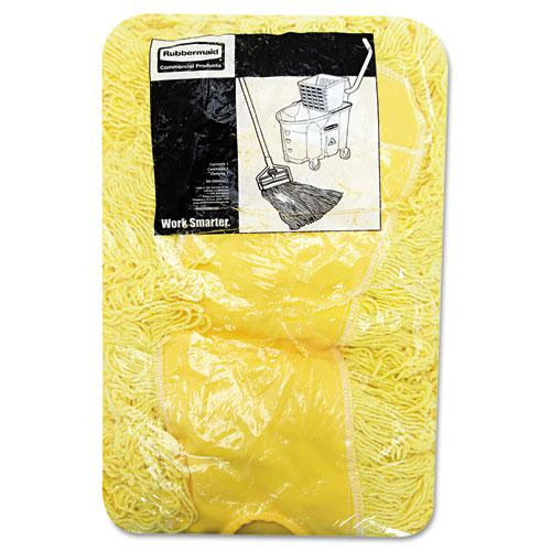 """Trapper Commercial Dust Mop, Looped-end Launderable, 5"""" x 18"""", Yellow. Picture 3"""