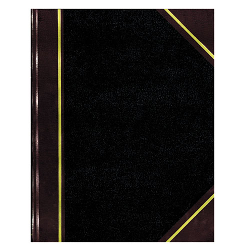 Texthide Record Book, Black/Burgundy, 150 Green Pages, 10 3/8 x 8 3/8. Picture 2